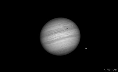 Jupiter et satellites 14 oct 2011
