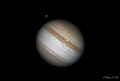 Jupiter et Ganymède 10 oct 2010