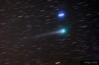 Comète Lulin et Régulus