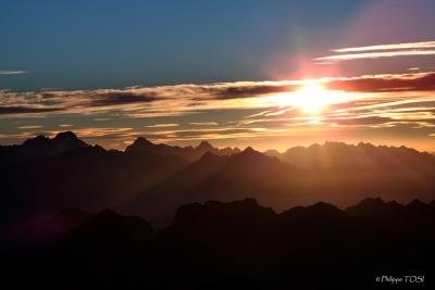 Hautes Pyrénées depuis le PIc du midi