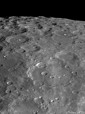 Région lunaire du cratère Clavius