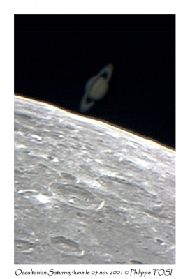 Occultation Saturne/lune 03 nov 2001