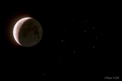 Occultation Pleiades/lune HDR 18 jul 2009